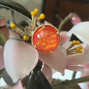 Vintage 925 Australian triple opal ring